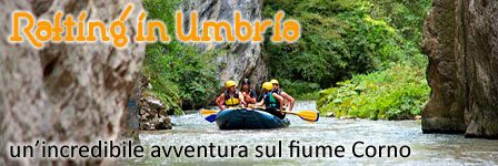Rafting in Umbria a Norcia